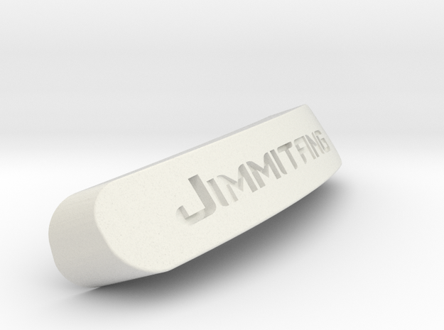 Jimmitang Nameplate for SteelSeries Rival in White Strong & Flexible