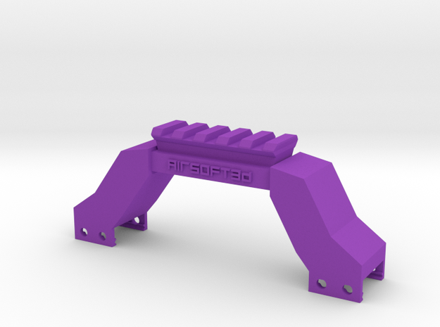 Briefcase Picatinny Riser in Purple Processed Versatile Plastic