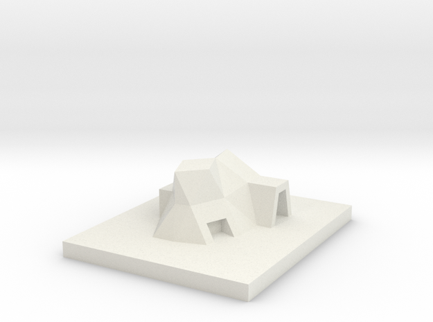 House 14 in White Natural Versatile Plastic
