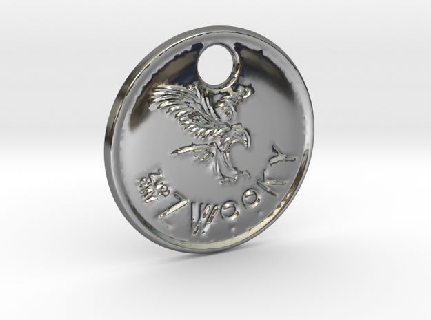 ZWOOKY Style 82 Sample - keychain eagle in Premium Silver