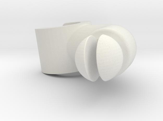 Assem1 - V2Hand-2 in White Natural Versatile Plastic