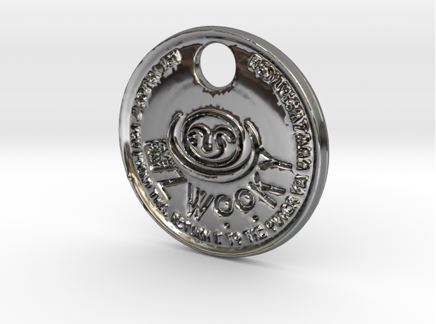ZWOOKY Style 161 - pendant Apophis in Fine Detail Polished Silver