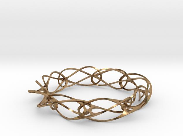 Vertebracelet 3d printed 3D Printed Brass