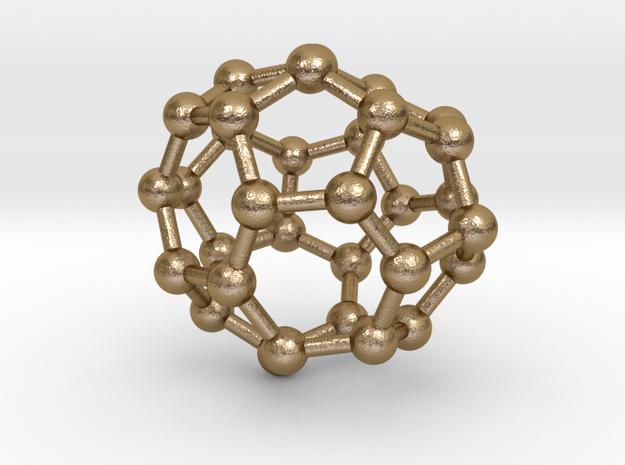 0015 Fullerene c32-6 d3 in Polished Gold Steel