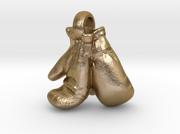 BOXING GLOVES in Polished Gold Steel