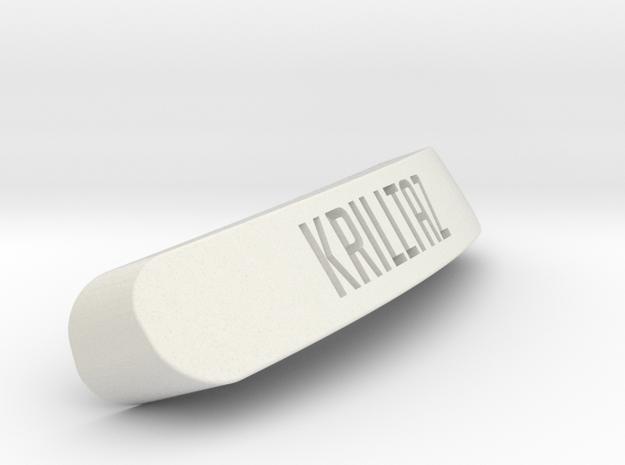 Krilltaz Nameplate for SteelSeries Rival in White Natural Versatile Plastic
