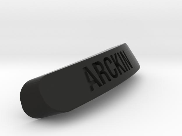 Arckin Nameplate for SteelSeries Rival in Black Natural Versatile Plastic