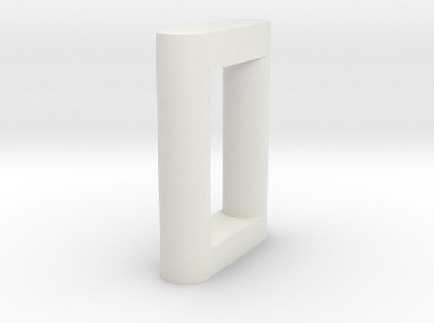 N Scale Bridge Pier #6 in White Natural Versatile Plastic