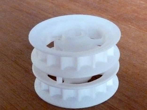 2x wide polargraph sprockets 5mm axle 3d printed