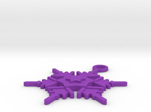 Snowflake Earring Geni 3d printed