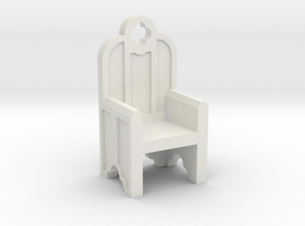 Gothic Chair in White Natural Versatile Plastic