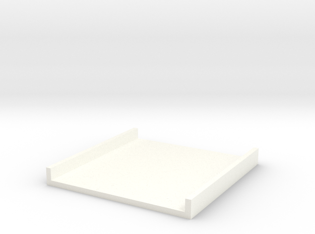 Tray part A version 003 in White Strong & Flexible Polished