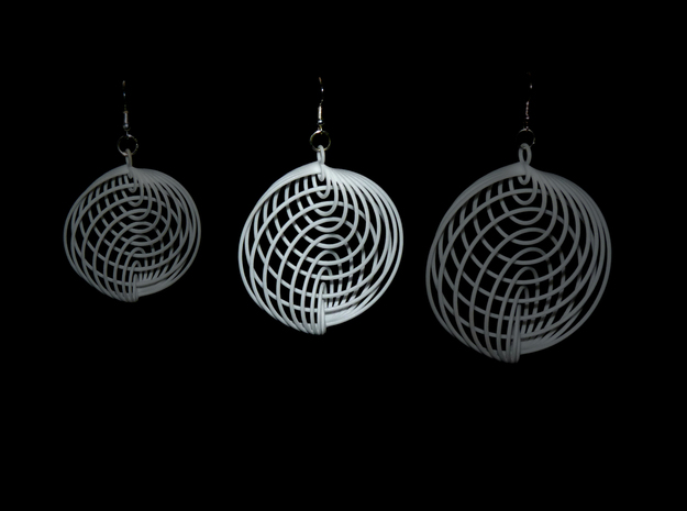 Running in Circles - Earrings (L) 3d printed Compare m, <strong>L</strong> and xl size