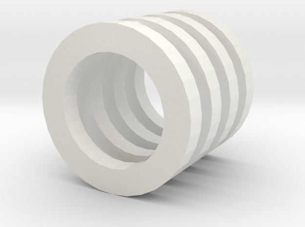 Spacer for lower pulleys with bearings MR105 in White Natural Versatile Plastic