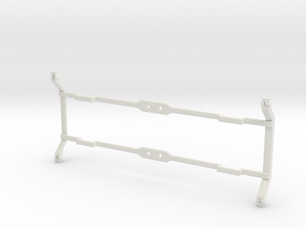 """VR narrow gauge 29'6"""" Bogie baseplate V2 in White Strong & Flexible"""