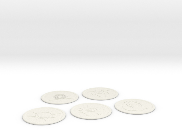 Ravnica Coasters Blank 1 in White Strong & Flexible