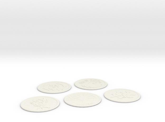 Ravnica Coasters blank 2 in White Natural Versatile Plastic