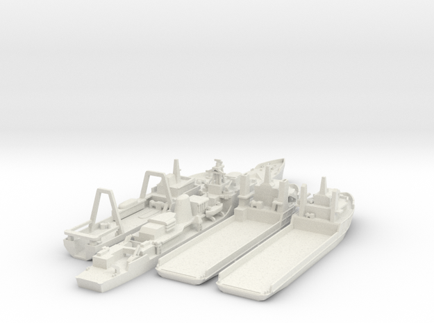 Cod War Set 3 1:700/600 in White Natural Versatile Plastic: 1:700