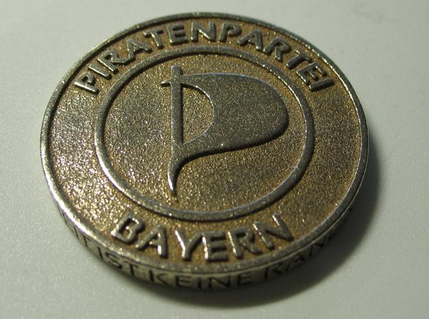 Piratenmünze 4cm 3d printed Stainless Steel Seite 1