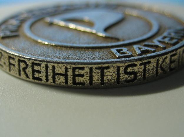 Piratenmünze 4cm 3d printed Stainless Steel Rand