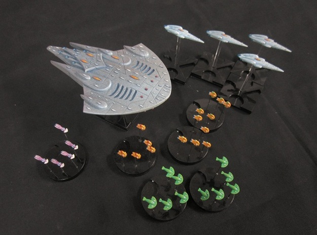 10 Aquatic fighters 3d printed