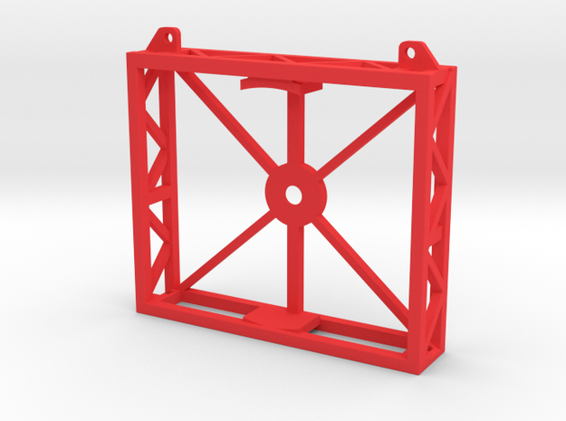 Front Support Stand in Red Processed Versatile Plastic