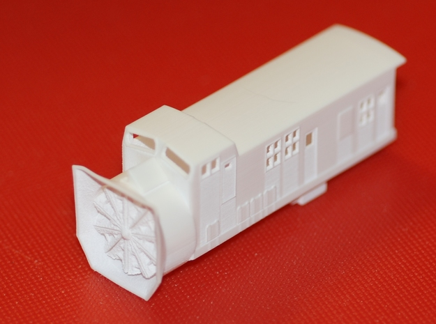 Railroad Snow Plow - Zscale 3d printed
