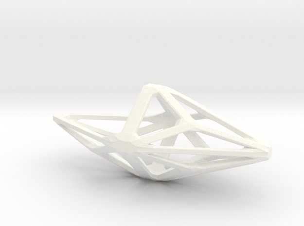 Polyhedral Hanging Planter in White Processed Versatile Plastic