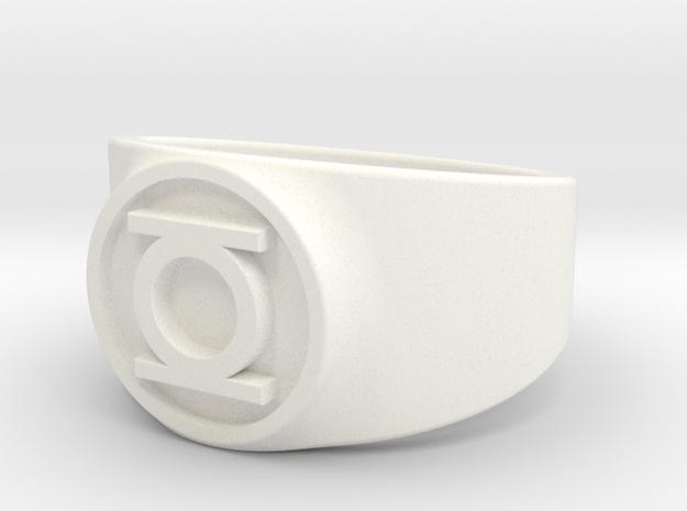 Original Hal GL Ring Sz 15 in White Processed Versatile Plastic