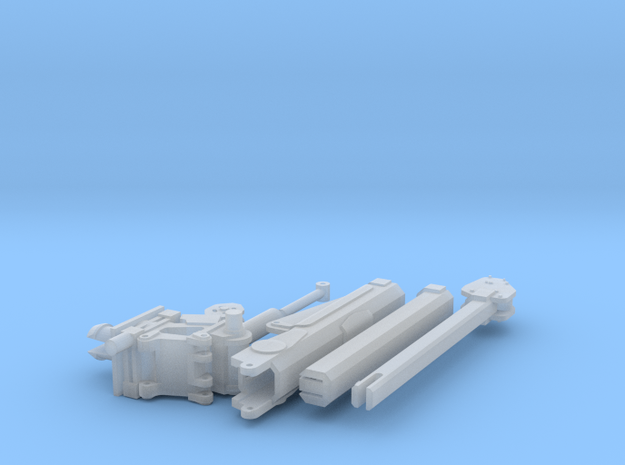 1/64 Crane for Service Bed (Small) (S Scale) in Smooth Fine Detail Plastic