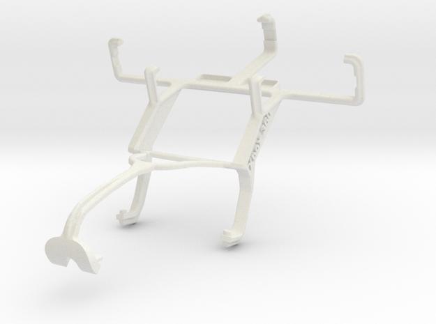 Controller mount for Xbox 360 & Gigabyte GSmart in White Natural Versatile Plastic
