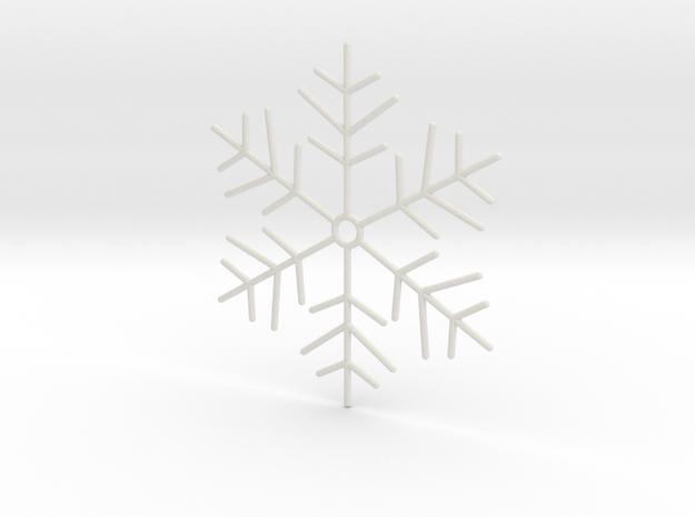 Snowflake Pendant 4 in White Natural Versatile Plastic