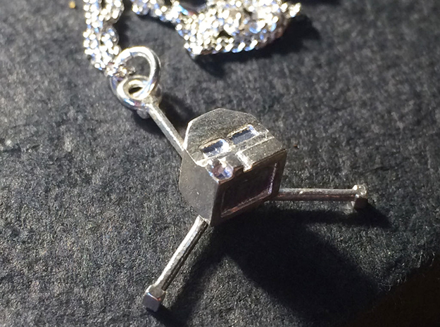 Philae Lander Pendant in Natural Silver