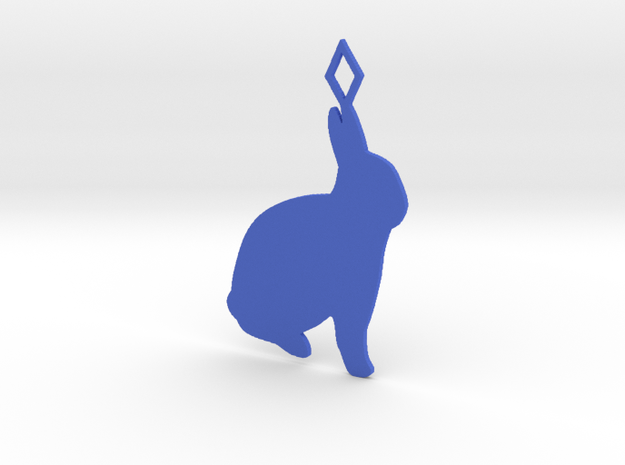 Rabbit pendant in Blue Strong & Flexible Polished