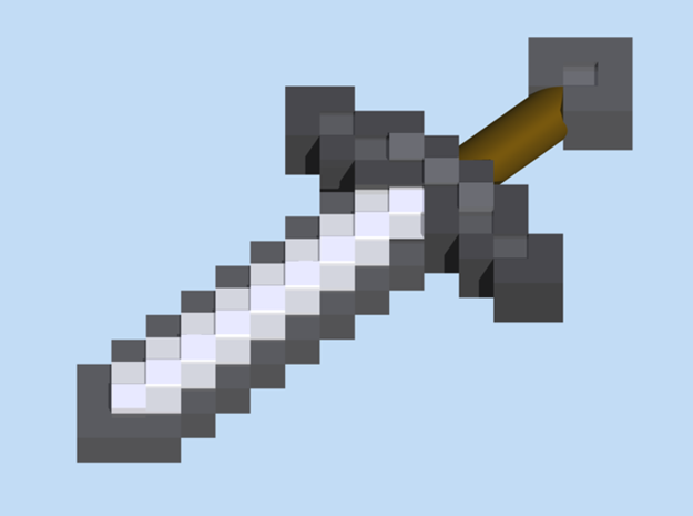 Mine Sword 3d printed Render