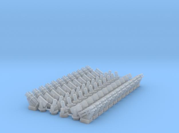 CIWS1 (x12)+CIWS2 (x12)+RAM (x24)+Harpoon (x24) in Smooth Fine Detail Plastic
