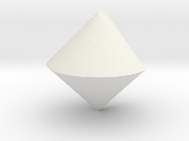 Sphericon in White Natural Versatile Plastic