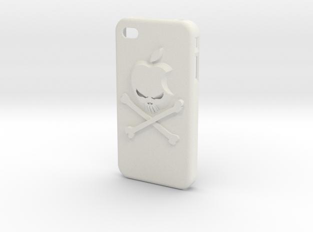 Iphone4 Cover Hack in White Natural Versatile Plastic
