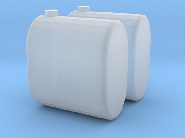 Saddle Tanks, Round Ends Connected 1/64  in Smooth Fine Detail Plastic