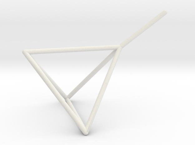Wire Model for Soap: Tetrahedron in White Natural Versatile Plastic