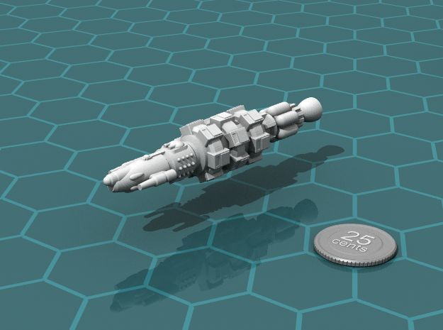 Privateer Rhino class Carrier in White Natural Versatile Plastic