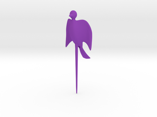 Bird shaped fork in Purple Strong & Flexible Polished