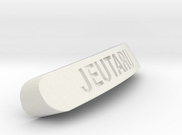 JEUTARU Nameplate for SteelSeries Rival in White Natural Versatile Plastic