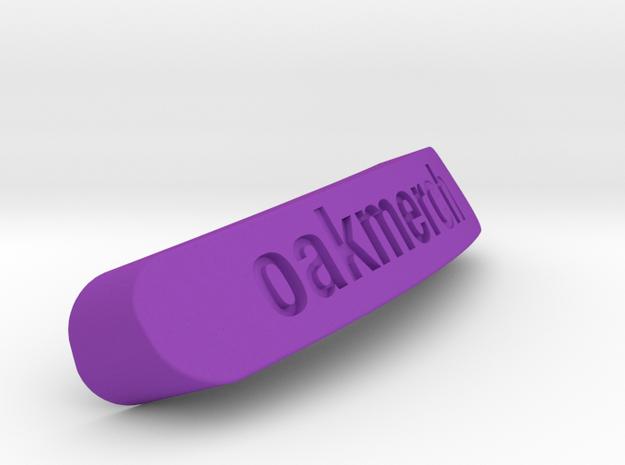 Oakmerch Nameplate for SteelSeries Rival in Purple Processed Versatile Plastic