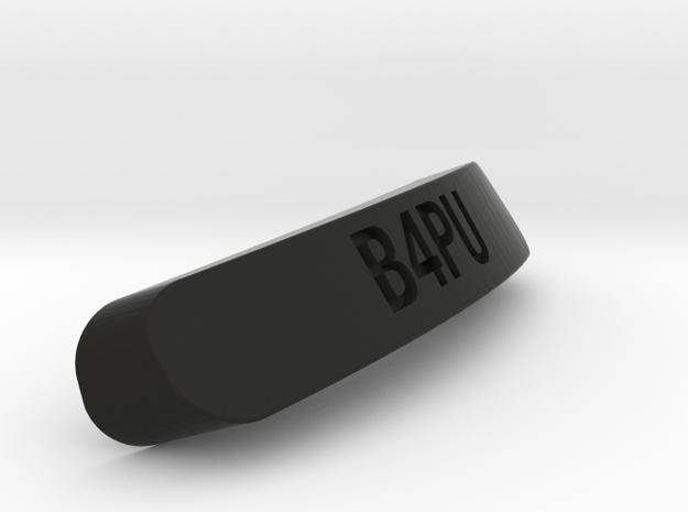 B4PU Nameplate for SteelSeries Rival in Black Natural Versatile Plastic