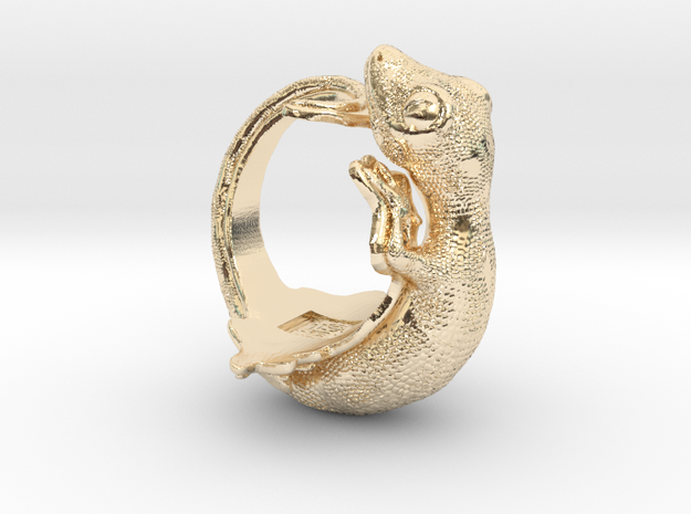 Gecko Size10 in 14K Yellow Gold