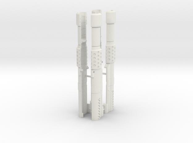 Cannons--rev2 in White Natural Versatile Plastic