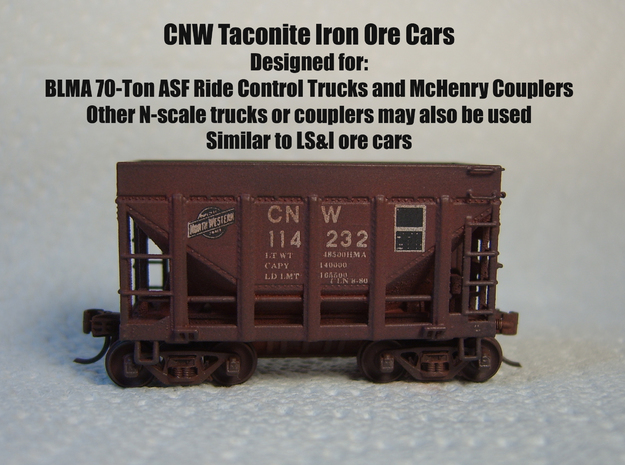 CNW Ore Car Six Pack, N Scale 3d printed