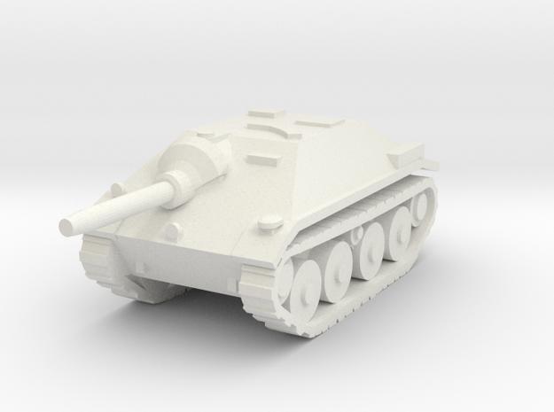 10mm Hetzer tank hunter in White Natural Versatile Plastic