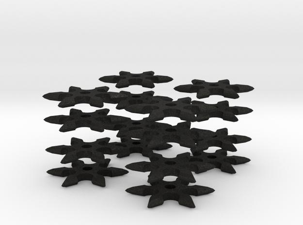 1:6 scale Ninja 6 Point Star X16 pcs 3d printed